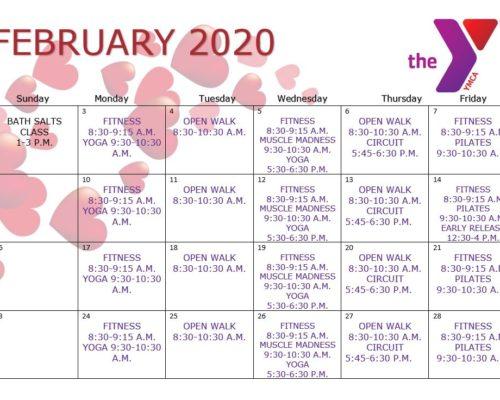 Feb. 2020 schedule
